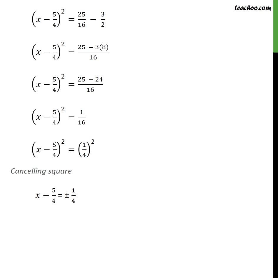 Example 7 - Chapter 4 Class 10 Quadratic Equations - Part 3