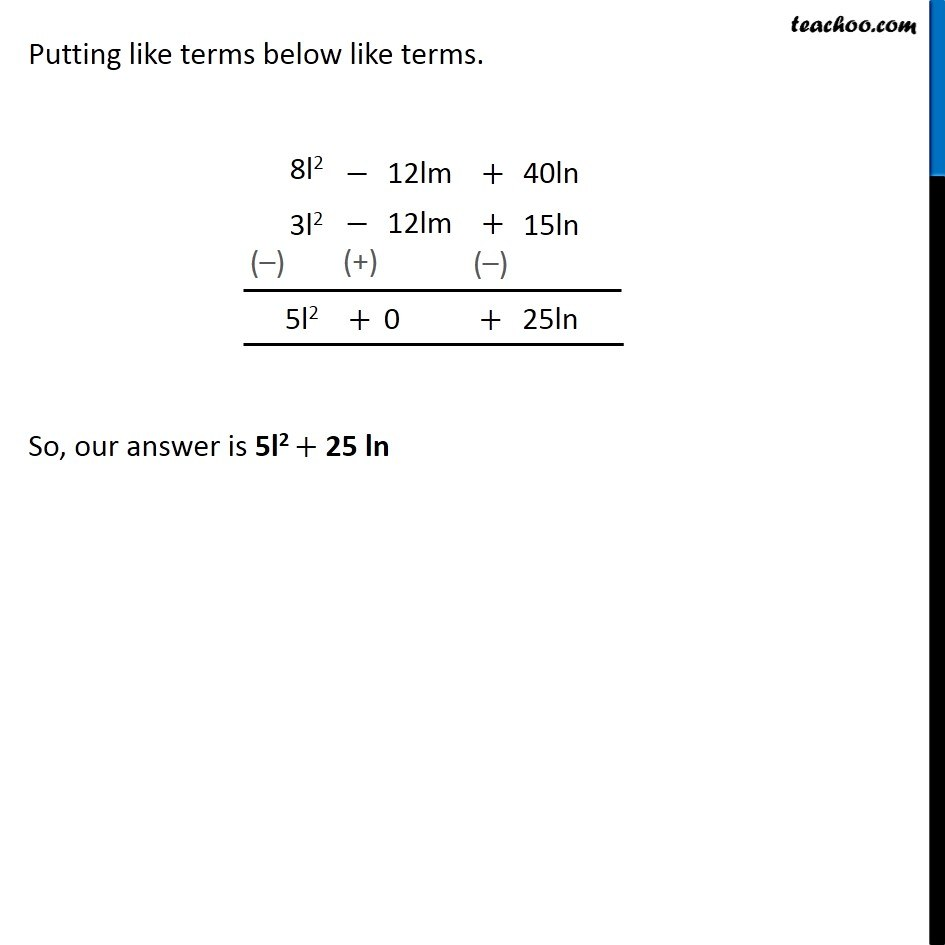 Ex 9.3, 5 - Chapter 9 Class 8 Algebraic Expressions and Identities - Part 4