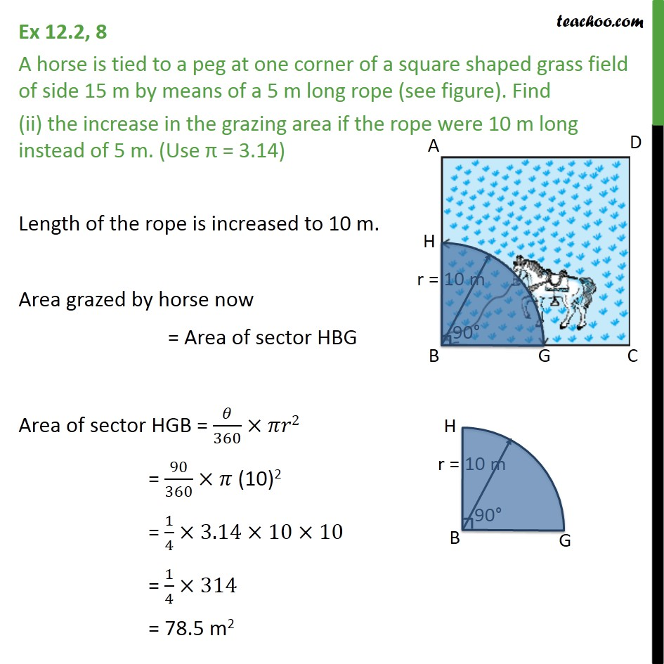 Ex 12.2, 8 - Chapter 12 Class 10 Areas related to Circles - Part 3