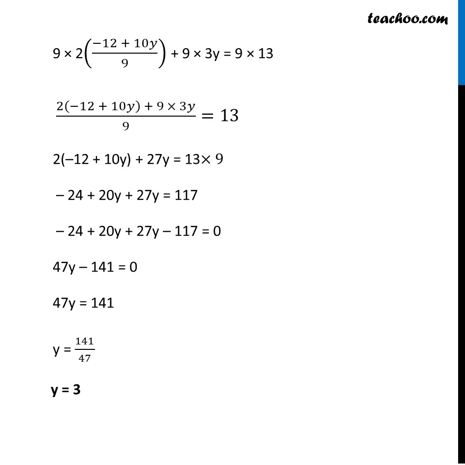 Ex 3.3, 1 - Chapter 3 Class 10 Pair of Linear Equations in Two Variables - Part 19
