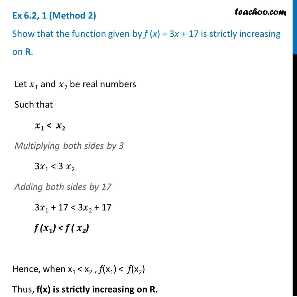 Ex 6.2, 1 - Chapter 6 Class 12 Application of Derivatives - Part 2