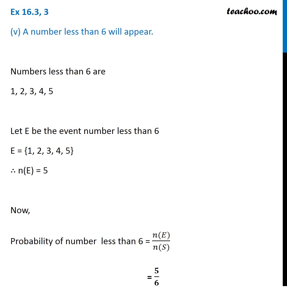 Ex 16.3, 3 - Chapter 16 Class 11 Probability - Part 6