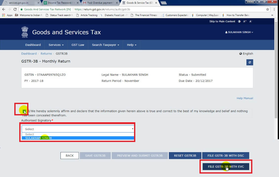 8. Click tick, select name then press fill GSTR-B with EVC Button.jpg