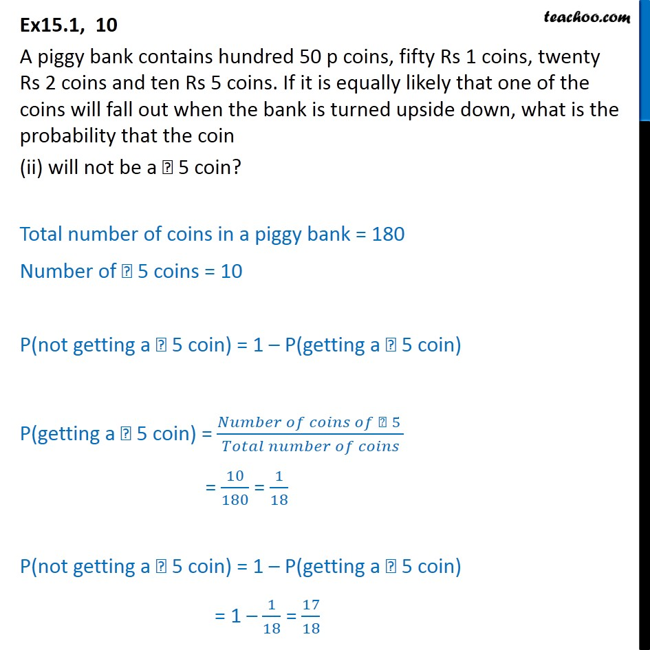 Ex 15.1, 10 - Chapter 15 Class 10 Probability - Part 2