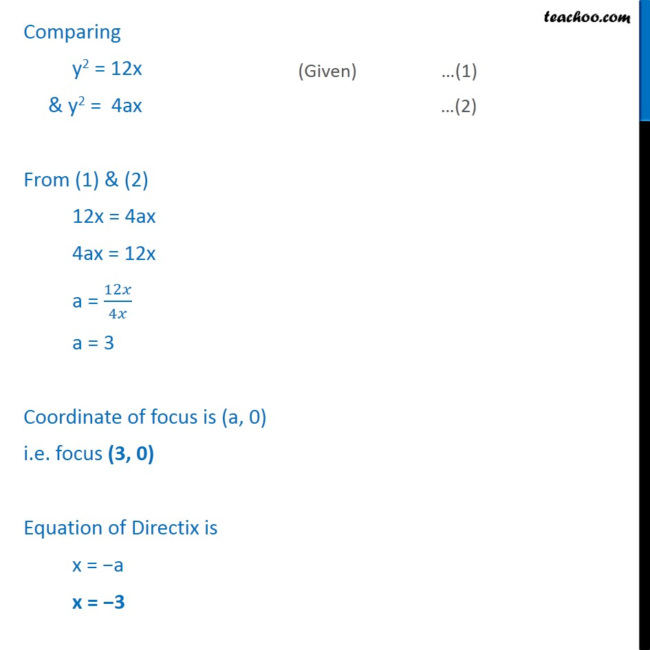 Ex 11.2,  1 - Chapter 11 Class 11 Conic Sections - Part 2