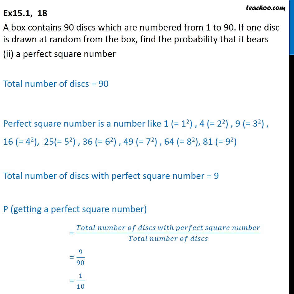 Ex 15.1, 18 - Chapter 15 Class 10 Probability - Part 3