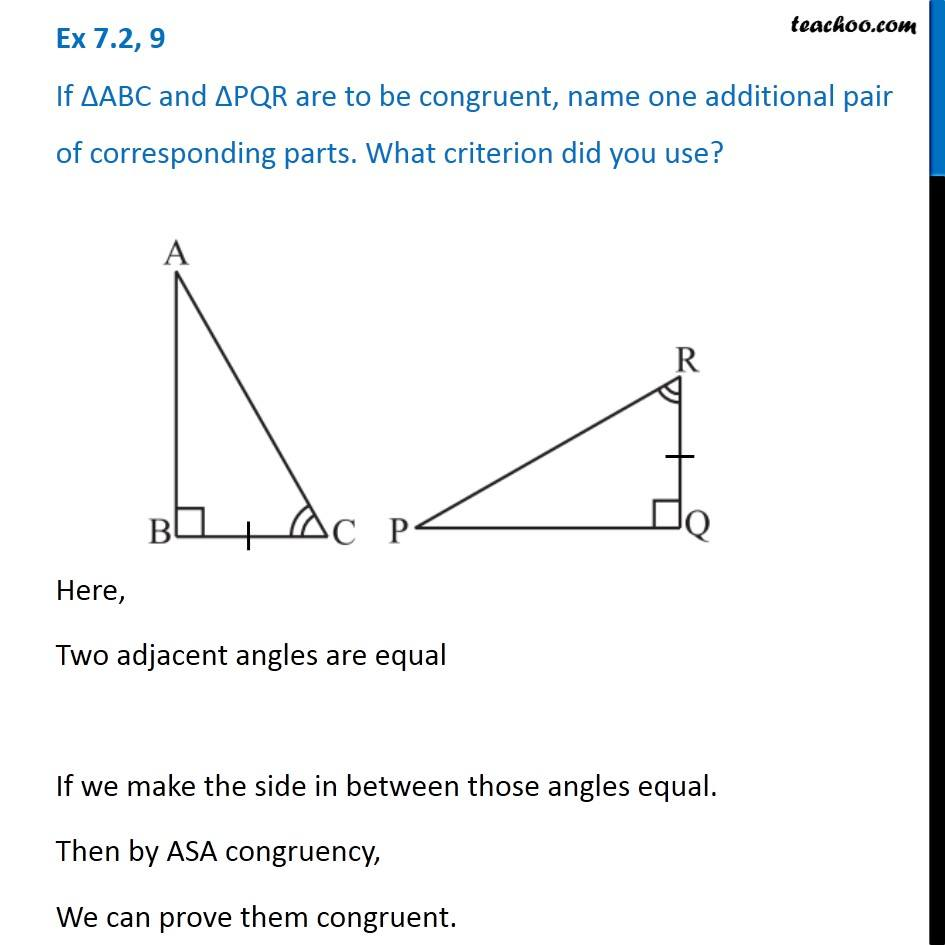 Ex 7.2, 9 - Chapter 7 Class 7 Congruence of Triangles - Part 2