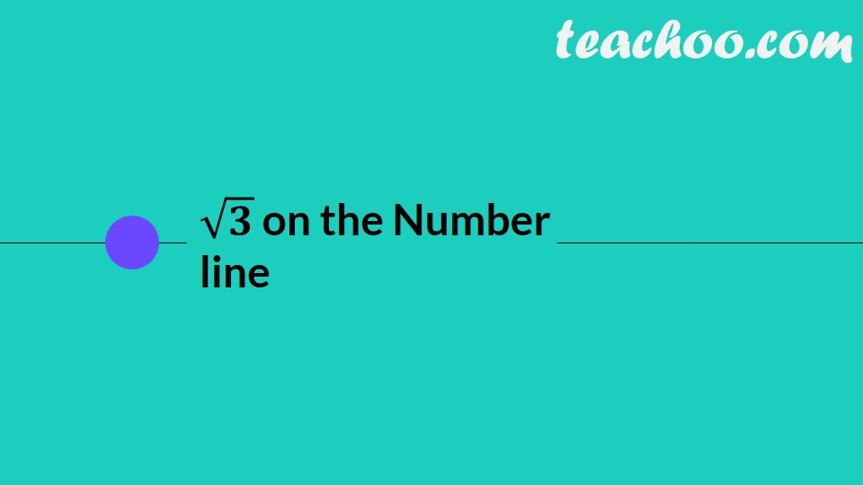 Represent root 3 on the number line (with Video) - Chapter 1 Class 9