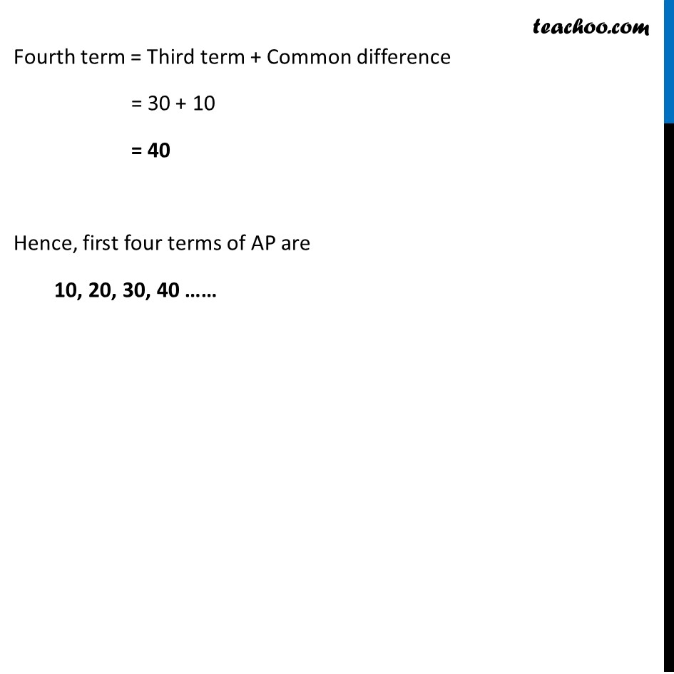 Ex 5.1, 2 - Chapter 5 Class 10 Arithmetic Progressions - Part 2